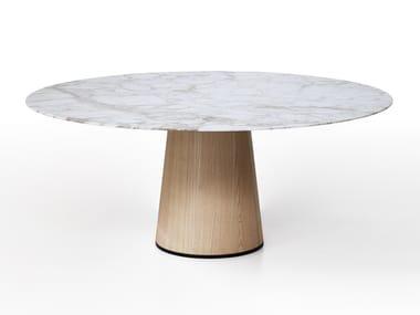 Mesa de comedor redonda de mármol MATERIC