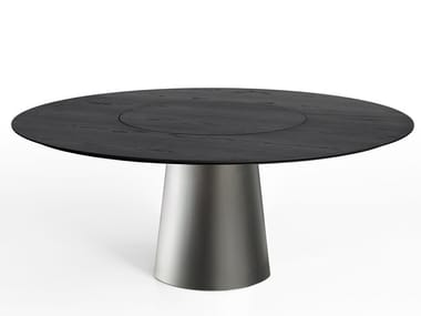 Round dining table with Lazy Susan MATERIC | Table