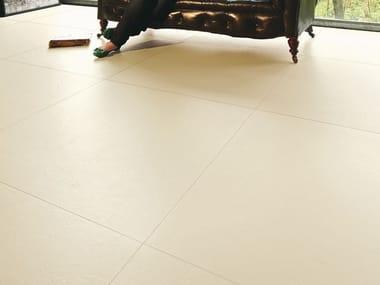 Pavimento/rivestimento in gres laminato effetto cemento MATERICA - AVORIO