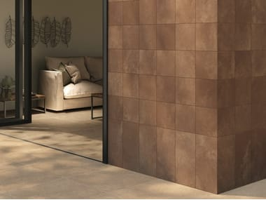 Pavimento/rivestimento in gres porcellanato effetto cemento MATERICA