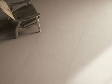Pavimento/rivestimento in gres laminato effetto cemento MATERICA - TORTORA