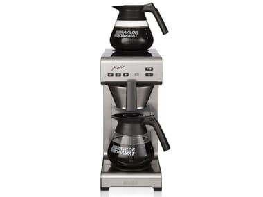Stainless steel coffeemaker with water connection MATIC