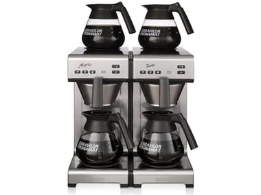 Stainless steel coffeemaker with water connection MATIC TWIN