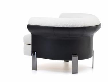 Fabric armchair with armrests MATTIA | Armchair