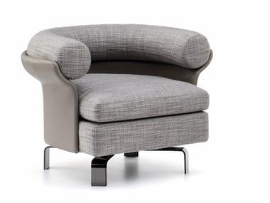 Swivel armchair with armrests MATTIA | Swivel armchair