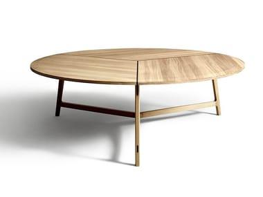 Tavolo rotondo in legno massello MAWARI