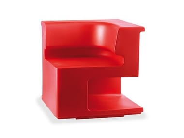 Corner sectional polyethylene garden armchair MAXÒ 1