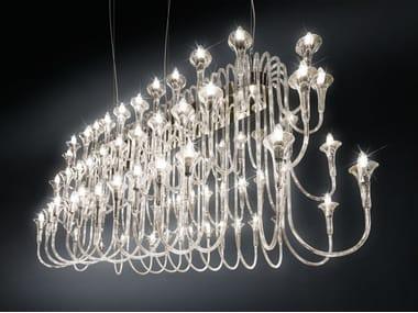 Pyrex® chandelier MAXI OCTOPUS 72