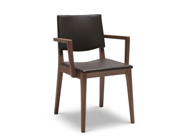 Upholstered chair with armrests MAXIM SOFT 171