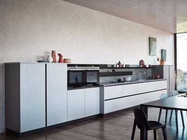 Melamine Linear fitted kitchen without handles MAXIMA 2.2 - COMPOSITION 7