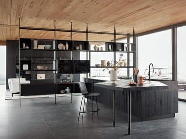 Cozinha integral com ilha MAXIMA 2.2 - NATURAL SHARING
