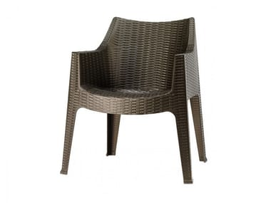 Stackable garden chair with armrests MAXIMA