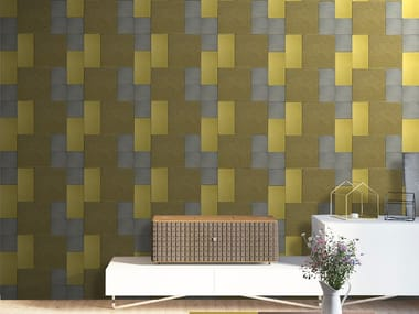 Indoor leather wall tiles MAXIME