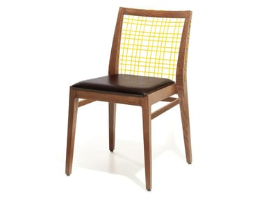 Stackable leather chair MAXINE   Leather chair