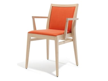 Fabric chair with armrests MAXINE | Chair with armrests