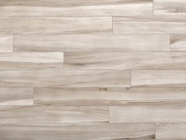 Glazed stoneware wall/floor tiles with wood effect MAXIWOOD LIVING Rovere bianco