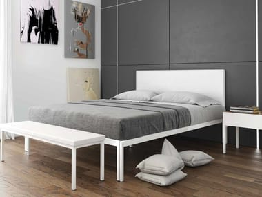 Eco-leather bed with upholstered headboard MAYA | Bed