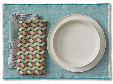 Woven Rectangular linen placemat MAYA TF