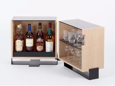 Multi-layer wood coffee table / bar cabinet MAYET | Bar cabinet