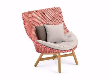 High-back garden armchair MBRACE | High-back garden armchair