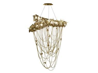 Brass chandelier with Swarovski® Crystals MCQUEEN | Chandelier