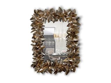 Rectangular wall-mounted mirror with Swarovski® Crystals MCQUEEN RECTANGULAR | Mirror