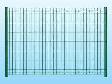 Modular electrically welded mesh Fence MEDIUM GREEN