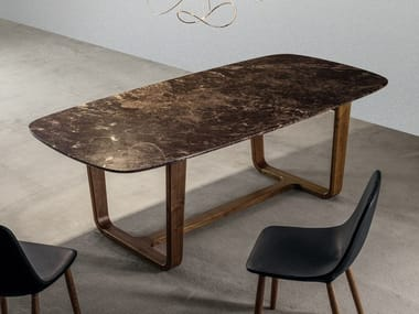 Oval marble living room table MEDLEY | Marble table