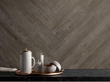 Pavimento/rivestimento in gres porcellanato effetto legno MEET ECLECTIC BROWN