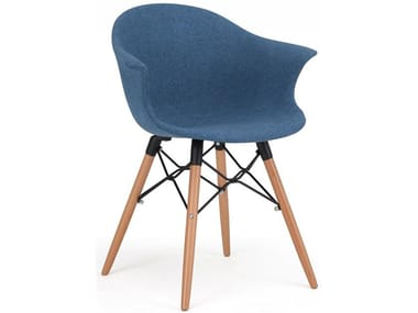 Fabric chair with armrests MEET | Chair