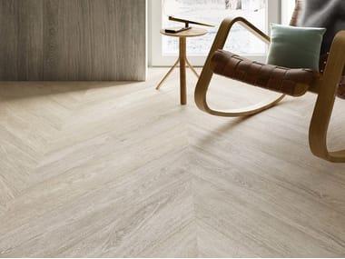 Pavimento/rivestimento in gres porcellanato effetto legno MEET SCANDI WHITE