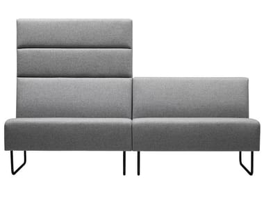 Modular fabric sofa with fire retardant padding MEETER