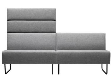 Modular fabric sofa with fire retardant padding MEETER