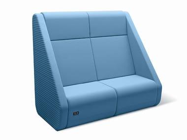 2 seater high-back sofa MEETING PORT KM2/BR-02