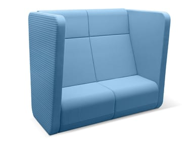 2 seater high-back sofa MEETING PORT KM2/BR-01