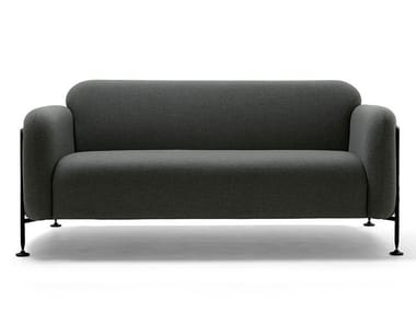 Upholstered sofa with steel tube side panels MEGA | 2 seater sofa