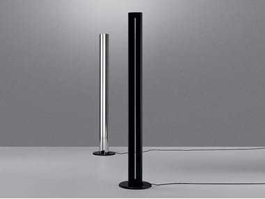 Indirect light aluminium floor lamp MEGARON