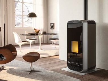 Pellet aluminium stove Class A+ MEGHAN METALLO