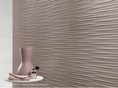 Rivestimento tridimensionale in ceramica a pasta bianca MEK WALL | Rivestimento tridimensionale