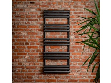 Wall-mounted steel towel warmer MELITEA