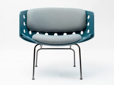 Chair with integrated cushion MELITEA