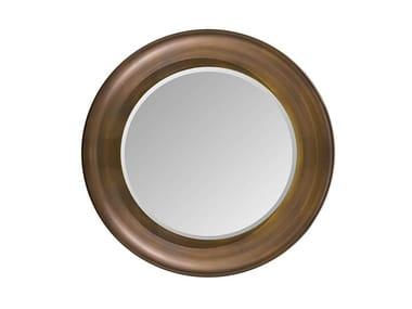 Round framed wooden mirror MELTING LIGHT | Mirror