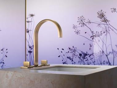 3 hole countertop washbasin tap with individual rosettes MEM   Washbasin tap with individual rosettes