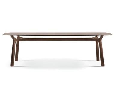 Rectangular glass living room table MEMOS | Rectangular table