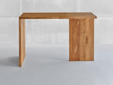 Rectangular solid wood high table MENA | High table