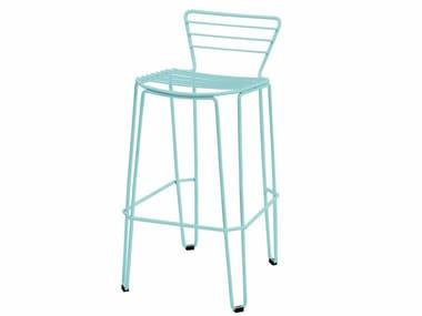 Metal garden chair with footrest MENORCA | Chair