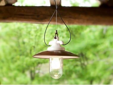 Porcelain stoneware pendant lamp MERANO | Pendant lamp