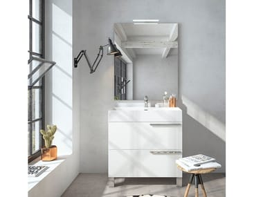Floor-standing vanity unit with mirror MERCURY 02