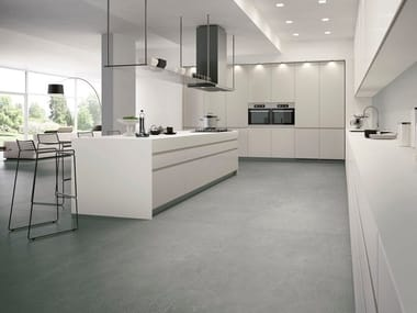Porcelain stoneware wall/floor tiles with concrete effect with resin effect MERCURY MAXIMUM