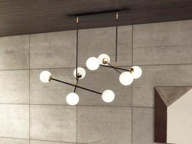 Painted metal pendant lamp MERIDIAN S4-S8